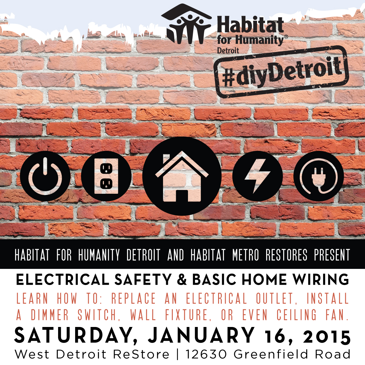Diy Detroit Basic Electrical Tips For Your Home Habitat Wiring Join Us On January 16 As We Dive Into Some Safety And